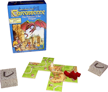 CARCASSONNE PRINCESS AND DRAGON